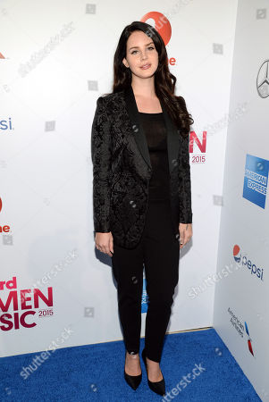 "Billboard ""Trailblazer"" honoree Lana Del Ray attends the 2015 Billboard Women in Music honors at Cipriani 42nd Street, in New York"