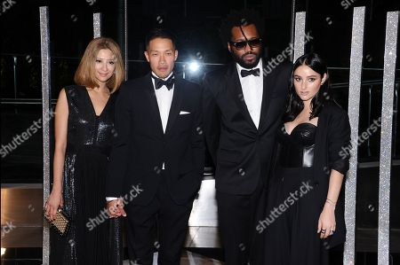Stock Photo of Canis Chow, Dao-Yi Chow, Maxwell Osborne, and Banks attend the 2015 CFDA Fashion Awards at Alice Tully Hall, in New York