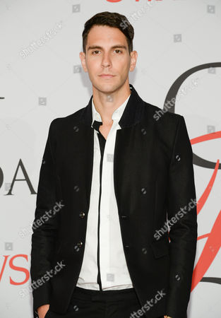 Gabe Saporta arrives at the 2015 CFDA Fashion Awards at Alice Tully Hall, in New York