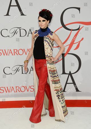 Stock Image of Stacy Bendet arrives at the 2015 CFDA Fashion Awards at Alice Tully Hall, in New York