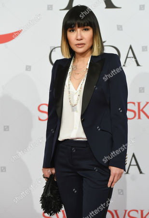Stock Photo of Mimi So arrives at the 2015 CFDA Fashion Awards at Alice Tully Hall, in New York