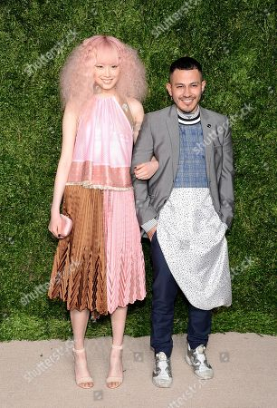 Fernanda Ly and Rio Uribe attend the 12th Annual CFDA/Vogue Fashion Fund Awards at Spring Studios, in New York
