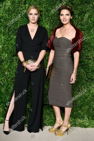 Stock Image of Veronica Miele Beard, left, and Veronica Swanson Beard attend the 12th Annual CFDA/Vogue Fashion Fund Awards at Spring Studios, in New York