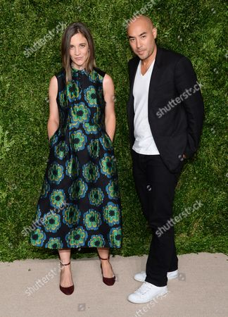 Erin Beatty, Max Osterweis attend the 12th Annual CFDA/Vogue Fashion Fund Awards at Spring Studios, in New York