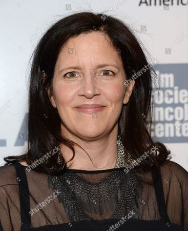 Laura Poitras arrives at the 42nd annual Chaplin Award Gala honoring Robert Redford at Alice Tully Hall, in New York