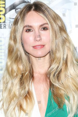 """Stock Picture of Sarah Carter attends the """"Falling Skies"""" press line on day 2 of Comic-Con International, in San Diego"""