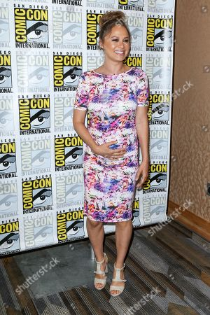"""Stock Image of Moon Bloodgood attends the """"Falling Skies"""" press line on day 2 of Comic-Con International, in San Diego"""