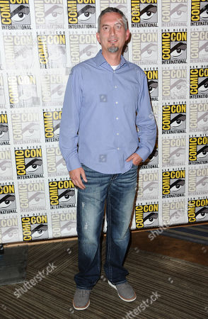 James Dashner attends the 20th Century Fox press line on day 3 of Comic-Con International, in San Diego