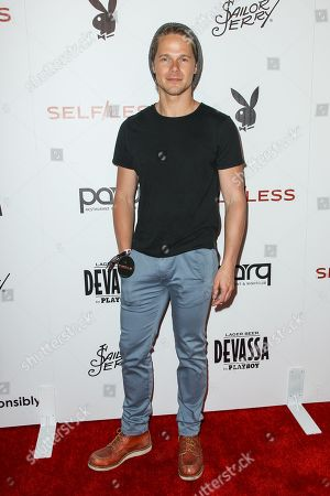Michael Nardelli attends the Playboy and Gramercy Pictures' Self/less party on day 2 of Comic-Con International, in San Diego