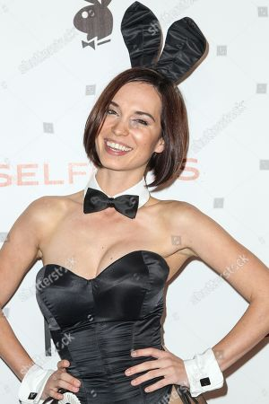 Miss October 2012 Pamela Horton attends the Playboy and Gramercy Pictures' Self/less party on day 2 of Comic-Con International, in San Diego