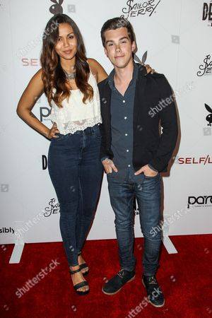 Olivia Olson, left, and Jeremy Shada attend the Playboy and Gramercy Pictures' Self/less party on day 2 of Comic-Con International, in San Diego