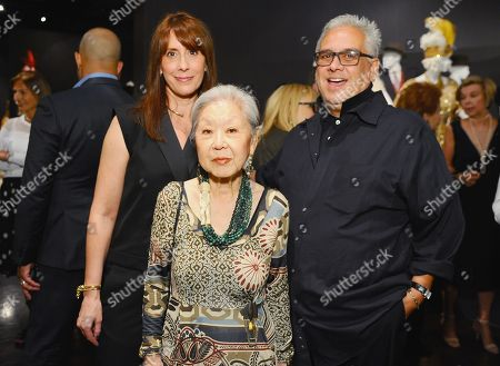 "Costume designers Ann Foley, of ""Marvel's Agents of S.H.I.E.L.D., from left, Mary Rose and Eduardo Castro, of ""Once Upon A Time"" seen at The 9th Annual Outstanding Art of Television Costume Design Exhibition opening at the FIDM Museum & Galleries on the Park, in Los Angeles. The Television Academy and FIDM Museum honored this year's Emmy(R) Award winners in Outstanding Costume Design at the opening reception for this annual special exhibition"