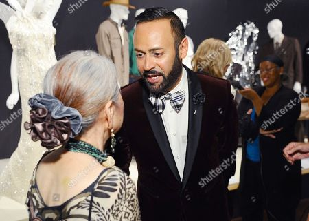Mary Rose, left, and Nick Verreos seen at The 9th Annual Outstanding Art of Television Costume Design Exhibition opening at the FIDM Museum & Galleries on the Park, in Los Angeles. The Television Academy and FIDM Museum honored this year's Emmy(R) Award winners in Outstanding Costume Design at the opening reception for this annual special exhibition