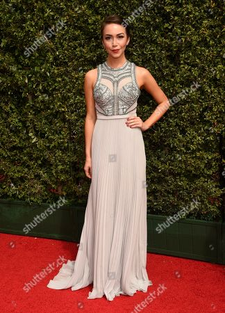Joanna Sotomura arrives at the Creative Arts Emmy Awards at the Microsoft Theater, in Los Angeles