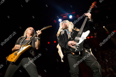 Rickey Medlocke and Johnny Colt with Lynyrd Skynyrd performs during CROCK FEST at Verizon Wireless Amphitheatre, in Atlanta