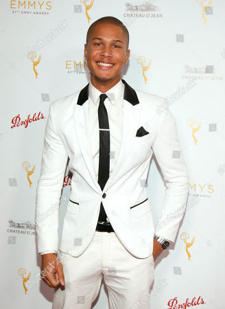 Najee De-Tiege seen at the Television Academy's 67th Emmy Daytime Peer Group Celebration at the Montage Beverly Hills on in Beverly Hills, Calif