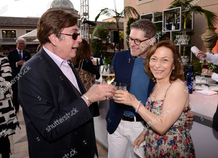 David Michaels, from left, Bob Bergen and Kathie Barnes seen at the Television Academy's 67th Emmy Daytime Peer Group Celebration at the Montage Beverly Hills on in Beverly Hills, Calif
