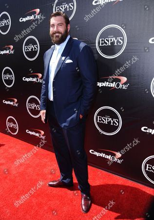 Stock Photo of NFL player Todd Herremans, of the Indianapolis Colts, arrives at the ESPY Awards at the Microsoft Theater, in Los Angeles