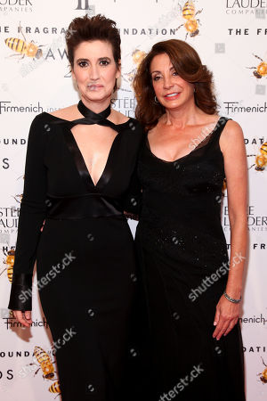Stock Image of Elizabeth Musmanno, left, and Jill Belasco, right, attend the Fragrance Foundation Awards at Alice Tully Hall, in New York