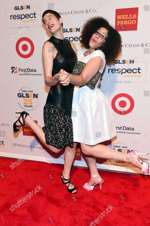 Rain Dove, left, and Rain Pryor attend the 2015 GLSEN Respect Awards at Cipriani 42nd Street, in New York