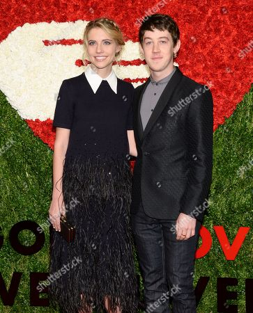 Wallis Currie-Wood and Alex Sharp attends God's Love We Deliver's 2015 Golden Heart Awards at Spring Studios, in New York