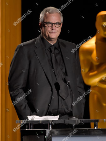 Stock Picture of Nick Cassavetes presents an honorary Oscar at the Governors Awards at the Dolby Ballroom, in Los Angeles