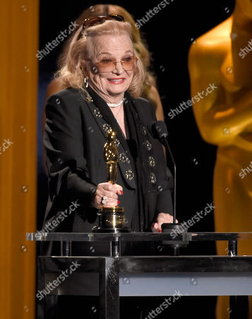 Gena Rowlands accepts an honorary Oscar at the Governors Awards at the Dolby Ballroom, in Los Angeles