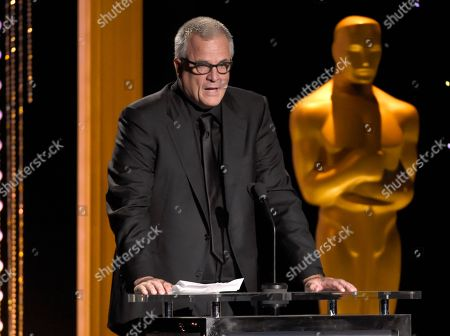 Nick Cassavetes presents an honorary Oscar at the Governors Awards at the Dolby Ballroom, in Los Angeles
