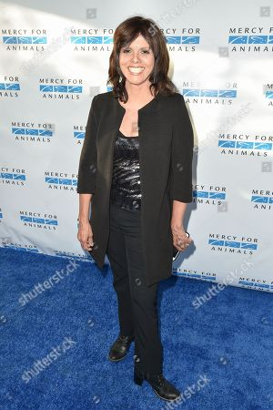"""Jane Velez-Mitchell arrives at """"Mercy For Animals' Hidden Heroes Gala"""" held at Unici Casa, in Culver City, Calif"""