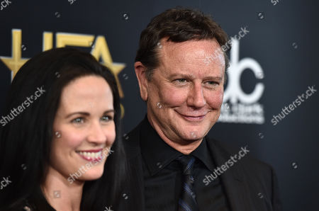 Judge Reinhold, right, and Amy Reinhold arrive at the Hollywood Film Awards at the Beverly Hilton Hotel, in Beverly Hills, Calif