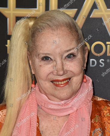 Sally Kirkland arrives at the Hollywood Film Awards at the Beverly Hilton Hotel, in Beverly Hills, Calif
