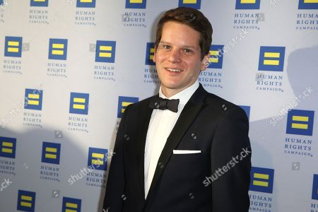 Graham Moore arrives at the 2015 Human Rights Campaign Gala Dinner at the JW Marriott LA Live on in Los Angeles