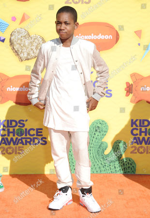Tylen Jacob Williams arrives at Nickelodeon's 28th annual Kids' Choice Awards at The Forum, in Inglewood, Calif