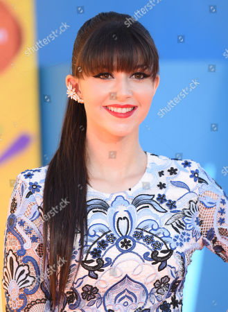 Stock Picture of Elizabeth Elias arrives at Nickelodeon's 28th annual Kids' Choice Awards at The Forum, in Inglewood, Calif