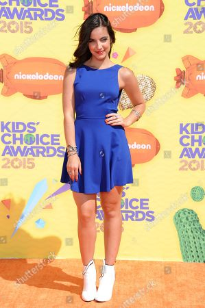 Stock Image of Maria Gabriela de Faria arrives at Nickelodeon's 28th annual Kids' Choice Awards at The Forum, in Inglewood, Calif