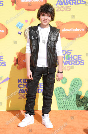 Cameron Ocasio arrives at Nickelodeon's 28th annual Kids' Choice Awards at The Forum, in Inglewood, Calif