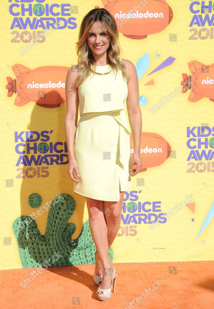 Kelly Sullivan arrives at Nickelodeon's 28th annual Kids' Choice Awards at The Forum, in Inglewood, Calif