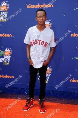 Coy Stewart arrives at the 2015 Kids' Choice Sports Awards at Pauley Pavilion on in Los Angeles