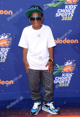 Stock Picture of Damarr Calhoun arrives at the 2015 Kids' Choice Sports Awards at Pauley Pavilion on in Los Angeles