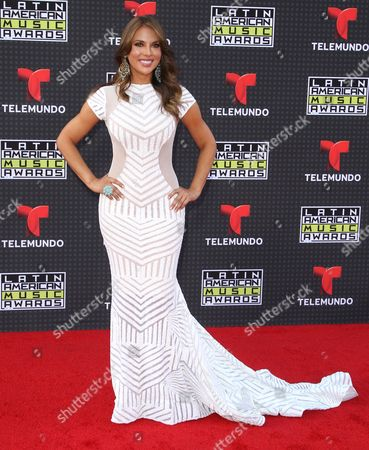 Vanessa Villela arrives at the Latin American Music Awards at the Dolby Theatre, in Los Angeles