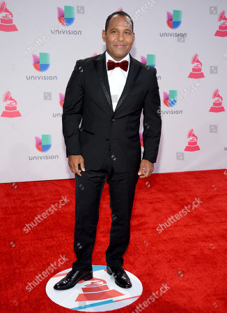 Tony Dandrades arrives at the 16th annual Latin Grammy Awards at the MGM Grand Garden Arena, in Las Vegas