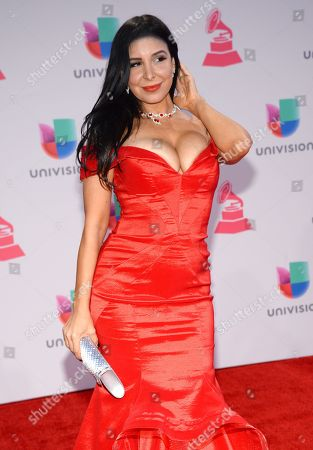 Mayra Veronica arrives at the 16th annual Latin Grammy Awards at the MGM Grand Garden Arena, in Las Vegas