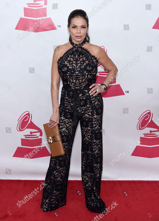 Stock Image of Julie Ferretti arrives at the Latin Recording Academy Person of the Year Tribute honoring Roberto Carlos at the Mandalay Bay Convention Center, in Las Vegas