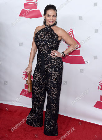 Stock Picture of Julie Ferretti arrives at the Latin Recording Academy Person of the Year Tribute honoring Roberto Carlos at the Mandalay Bay Convention Center, in Las Vegas