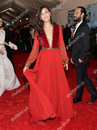 "Shu Pei arrives at The Metropolitan Museum of Art's Costume Institute benefit gala celebrating ""China: Through the Looking Glass"", in New York"