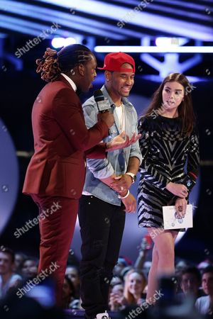 Tyrone Edwards, P. Reign and Hailee Steinfeld seen at the 2015 Much Music Video Awards at the Much Music HQ, in Toronto, Canada