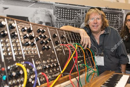 Keith Emerson, of Emerson, Lake & Palmer, attends the 2015 National Association of Music Merchants (NAMM) show at the Anaheim Convention Center on in Anaheim, California