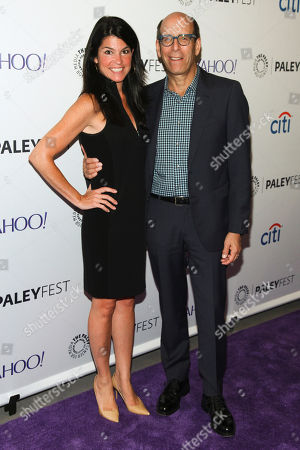 """Maureen J. Reidy, left, and Matt Blank, right, arrive at the 2015 PaleyFest New York """"The Affair"""" panel discussion, at The Paley Center for Media,, in New York"""