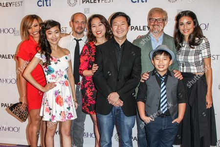 Stock Image of From left, Tisha Campbell-Martin, Krista Marie Yu, Jonathan Slavin, Suzy Nakamura, Ken Jeong, Dave Foley, Albert Tsai, and Kate Simses attend the at 2015 PaleyFest Fall TV Previews at The Paley Center for Media, in Beverly Hills, Calif