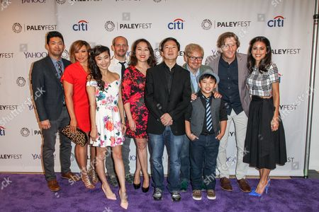 Stock Picture of From left, Phil Yu, Tisha Campbell-Martin, Krista Marie Yu, Jonathan Slavin, Suzy Nakamura, Ken Jeong, Dave Foley, Albert Tsai, Mike Sikowitz, and Kate Simses attend the at 2015 PaleyFest Fall TV Previews at The Paley Center for Media, in Beverly Hills, Calif